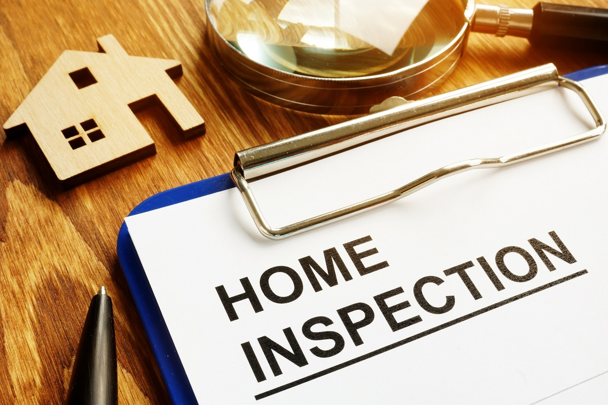 Home Inspection Paper on Clipboard